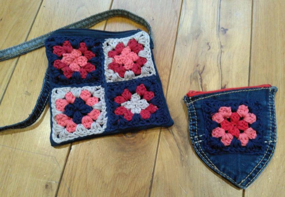 Taske lavet af gamle cowboybukser   Tasker, Pung
