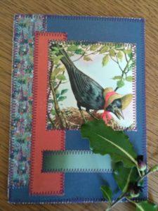 Syet kort med fugl fra gammel pixibog
