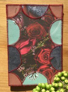 Papir patchwork kort med roser