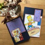 Fødselsdagskort til drenge lavet af udklip fra Simpsons tegneserie