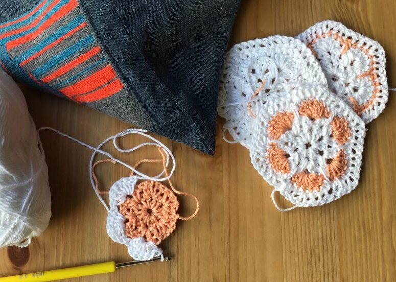 African flower granny squares