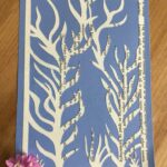 Recycled old book used as material for paper cutting
