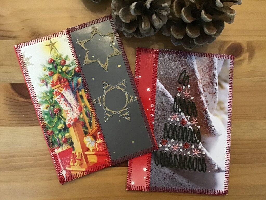 Karton fra gammel julekalender bliver til julekort