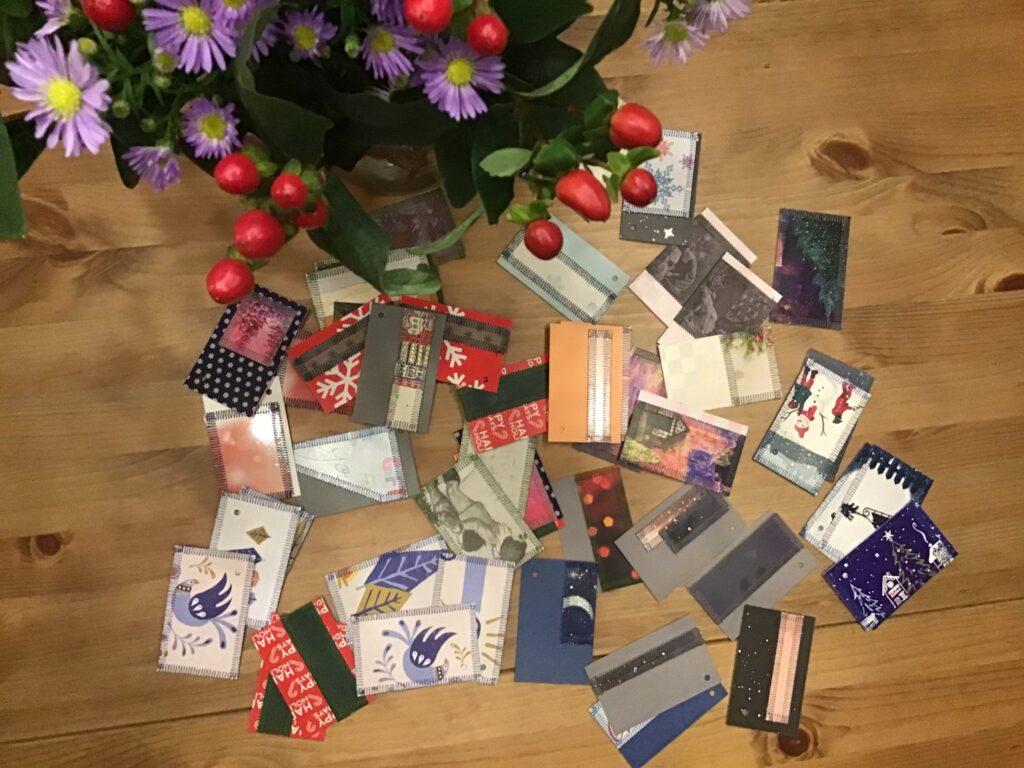 Upcycling af karton og julepapir